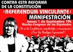 Manifestación contra esta reforma de la Constitución ¡Referéndum vinculante!