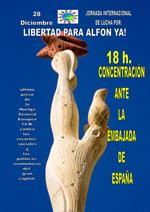 Jornada de lucha internacional por la libertad de Alfon