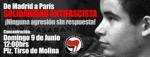 Concentración: De Madrid a París solidaridad antifascista ¡Ninguna agresión sin respuesta!