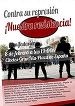 Manifestación: Contra su represión. ¡Nuestra resistencia!